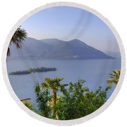 Brissago Islands Round Beach Towel