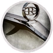 Buick Riviera Hood Ornament  Round Beach Towel