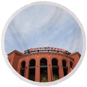 Busch Stadium - St. Louis Cardinals Round Beach Towel by Frank Romeo