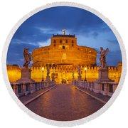 Castel Sant Angelo Round Beach Towel by Brian Jannsen