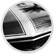 Chevrolet Chevelle Ss Grille Emblem Round Beach Towel