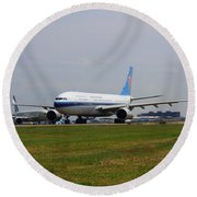 China Southern Airlines Airbus A330 Round Beach Towel