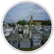 City Of The Dead - New Orleans Round Beach Towel