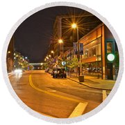 Cleveland Ohio Round Beach Towel by Frozen in Time Fine Art Photography