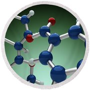 Cocaine Molecule Round Beach Towel