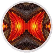 Color Fashion Abstract Round Beach Towel