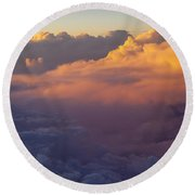 Colorful Clouds Round Beach Towel by Brian Jannsen