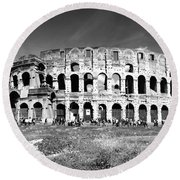 Colosseum Round Beach Towel by Stefano Senise