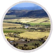 Country Scenic Round Beach Towel