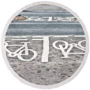 Cycle Path Round Beach Towel by Tom Gowanlock
