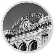Denver - Union Station Round Beach Towel