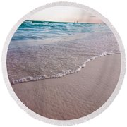 Destin Florida Beach Scenes Round Beach Towel