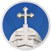Dome Of Agios Georgios Chapel Round Beach Towel