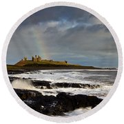 Dunstanburgh Castle Round Beach Towel