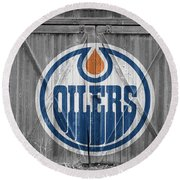 Edmonton Oilers Round Beach Towel
