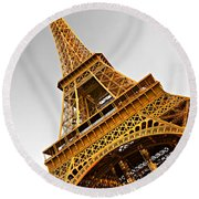 Eiffel Tower - Paris Round Beach Towel