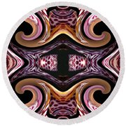 Empress Abstract Round Beach Towel
