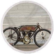 Excelsior Board Track Racer II Round Beach Towel