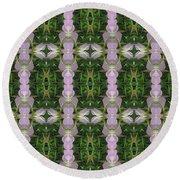 Flowers From Cherryhill Nj America Silken Sparkle Purple Tone Graphically Enhanced Innovative Patter Round Beach Towel