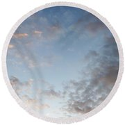 Fluffy Clouds Round Beach Towel