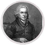 Francis Asbury (1745-1816) Round Beach Towel