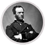 General William Tecumseh Sherman Round Beach Towel by War Is Hell Store
