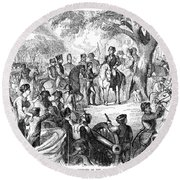 George Washington, 1775 Round Beach Towel