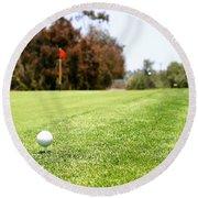 Golf Round Beach Towel