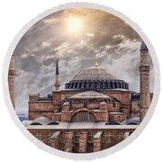 Hagia Sophia Istanbul Round Beach Towel