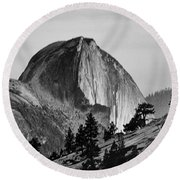 Half Dome Round Beach Towel by Cat Connor
