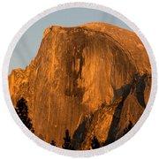Half Dome, Yosemite Np Round Beach Towel