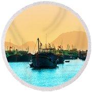 Halong Bay - Vietnam Round Beach Towel