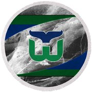 Hartford Whalers Round Beach Towel
