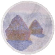 Haystacks Round Beach Towel