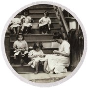 Hine Home Industry, 1912 Round Beach Towel