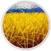 Homage To Van Gogh Round Beach Towel