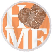 Houston Street Map Home Heart - Houston Texas Road Map In A Hear Round Beach Towel