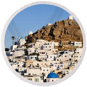 Ios Town Round Beach Towel