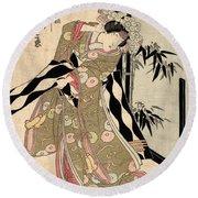 Japan: Tale Of Genji Round Beach Towel