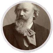 Johannes Brahms (1833-1897) Round Beach Towel