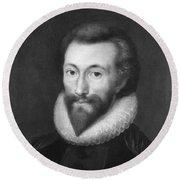 John Donne (1572-1631) Round Beach Towel