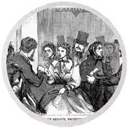 Johnson Impeachment, 1868 Round Beach Towel