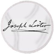 Joseph Lister (1827-1912) Round Beach Towel