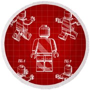 Lego Figure Patent 1979 - Red Round Beach Towel