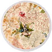 Marble End Paper Round Beach Towel by William Kilburn