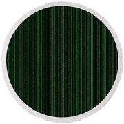 Matrix Green Round Beach Towel