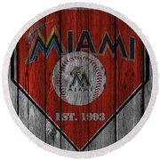 Miami Marlins Round Beach Towel