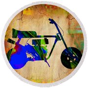 Mini Bike Round Beach Towel