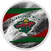 Minnesota Wild Round Beach Towel
