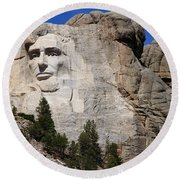 Mount Rushmore Round Beach Towel by Frank Romeo